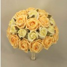 Gold & Ivory Diamante Rose Table Posy