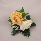 Ivory & Gold Rose Wrist Corsage