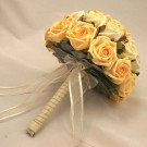 Gold & Ivory Rose Diamante Bridal Bouquet