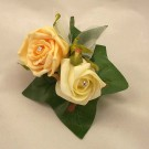 Gold & Ivory Rose Diamante Buttonhole