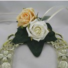 Ivory & Gold Rose Horseshoe