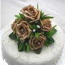 Mocha Rose Luxury Cake Topper