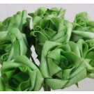 6 Luxury Forest Green Medium Roses