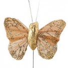 Gold Small Feather Butterflies
