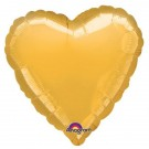 18'' Gold Heart Foil Balloon