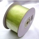Green Ribbon Wired Organza 50mm