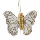 Ivory & Gold Small Feather Butterflies