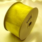 Lemon Ribbon Wired Organza 50mm