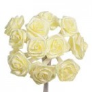 Lemon Yellow Satin Ribbon Roses
