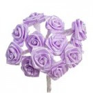 Lilac Satin Ribbon Roses