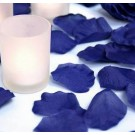 Navy Blue Silk Rose Petals