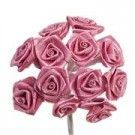 Pink Satin Ribbon Roses