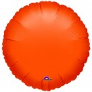 18'' Orange Round Foil Balloon