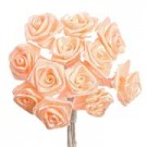 Peach Satin Ribbon Roses