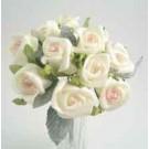 12 Cream Pink Jubilee Rosebuds