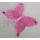 Pink Sheer Organza Butterflies