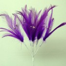 Purple Diamante Feathers
