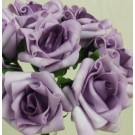 6 Luxury Purple Medium Roses