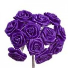Purple Satin Ribbon Roses
