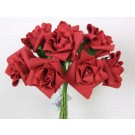 6 Luxury Red Medium Roses