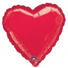18'' Red Heart Foil Balloon