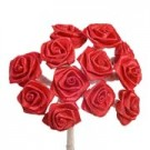 Red Satin Ribbon Roses