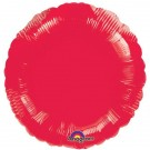 18'' Red Round Foil Balloon