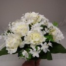 Cream Rose and Stephanotis Table Posy
