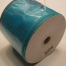 Turquoise / Aqua Ribbon Wired Organza 75mm