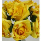 6 Luxury Yellow Medium Roses