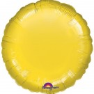 18'' Yellow Round Foil Balloon